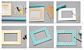 Instructions for decorating picture frames