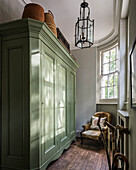 Large green wardrobe in Victorian dressing room