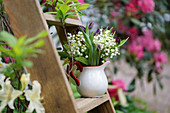 Scented bouquet of lily-of-the-valley and tulips