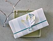 DIY paper napkin decoration