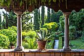 View of Renaissance garden from the veranda