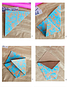 Instructions for folding patterned paper envelopes