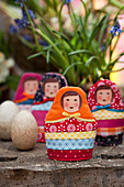 Russian-doll egg cosies