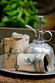Handmade paper plant pots