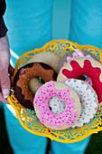 Handmade felt donuts
