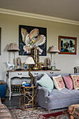 Maximalist decorated living room in classical style