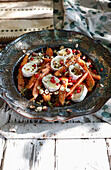 Organic carrots with Brie