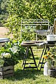 Outdoor kitchen in the garden