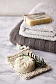Handmade, natural soap made with lavender oil
