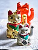 Maneki-neko fortune cats