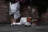 Dekoration für Sommerabende auf der Terrasse