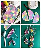 Making folded paper Easter eggs