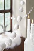 Garlands of cotton wool