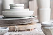 Tableware in natural colors