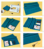 Sewing a towelling organiser