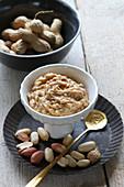 Peanut paste in a bowl