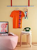 Orange t-shirt with trim