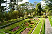 Garden of Emperor Bao Dai's Summer Palace, Dalat, Vietnam