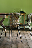 Chairs design by H.Bertoia