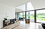 Open-plan living and dining area, Neuenkirchen, North Rhine-Westphalia, Germany