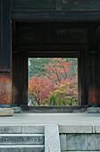 Nanzenji Temple. Large traditional main gate, the Sanmon Gate, also known as the Dragon gate.