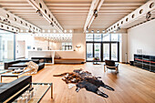 Living room inside a Bauhaus villa, Sauerland, Germany