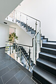 Staircase in a villa in a modern architecture style, Brandenburg, Germany