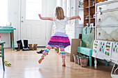 Girl dancing in living room