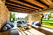 lounge area at the Finca Son Gener near Arta, Mallorca, Balearic Islands, Spain