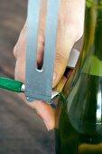 Flaschenhals abschneiden