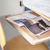 Magazine on desk