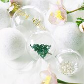 Glass Christmas tree baubles