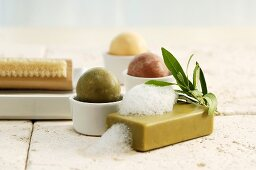 Different soaps and nailbrush