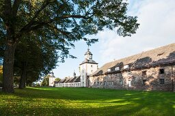 Schloss Corvey – the outer bailey with towers