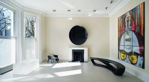 Art and designer furniture in classic ambience