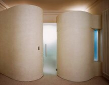 Cylinder-shaped structures in classic foyer