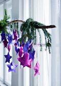 Advent calendar of hand-sewn felt stars