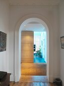 Hall with arched doorway