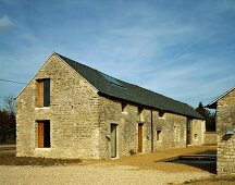 Renovated, old farmhouse with stone facade