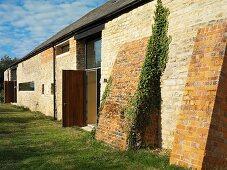 Renovated farmhouse with stone facade
