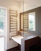 Bathroom with glass partition