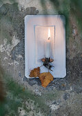 Candle sconce made from paper plate