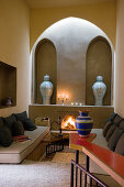 Atmospheric Moroccan living room