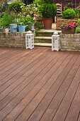Terrace with wooden deck