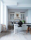 Offene Küche in modernem Landhausstil