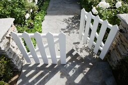 White picket gate