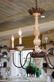 Contemporary candelabra chandelier