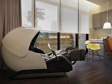 Massage chair in modern home