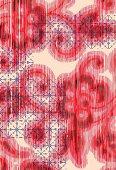 Red floral design (print)