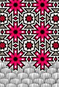 Pink snowflake pattern (print)